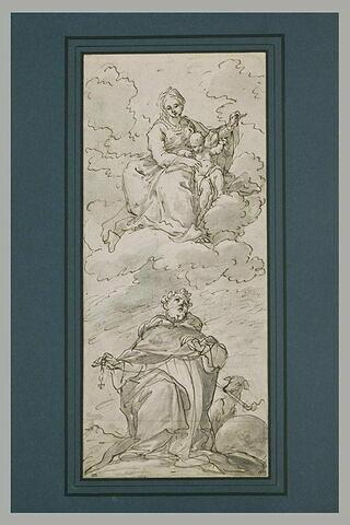 Saint Dominique recevant le rosaire