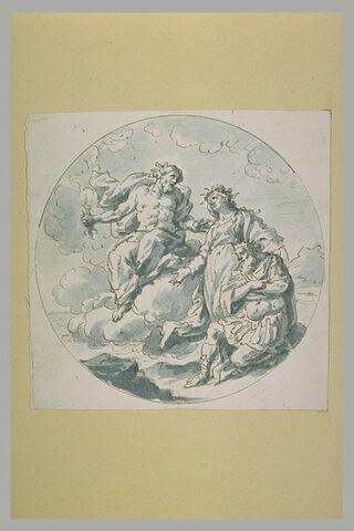 Jupiter, Cybèle et un roi agenouillé