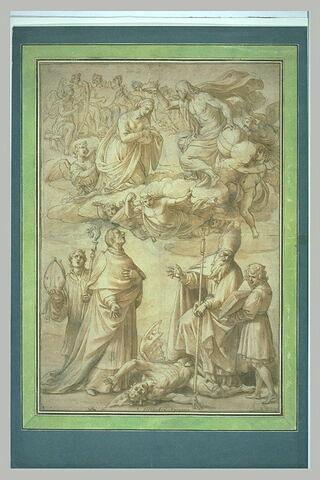 Le Couronnement de la Vierge avec saint Charles Borromée et saint Ubald