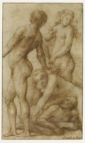 Composition allégorique avec quatre figures nues