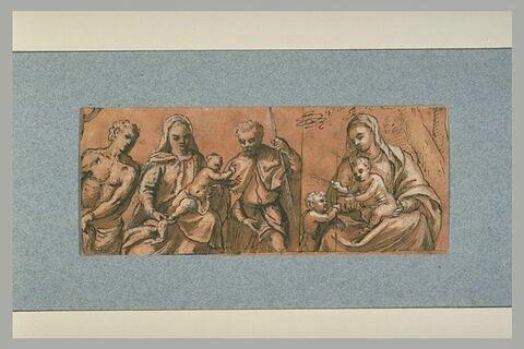 Vierge à l'Enfant avec deux saints; Vierge à l'Enfant et le petit saint Jean