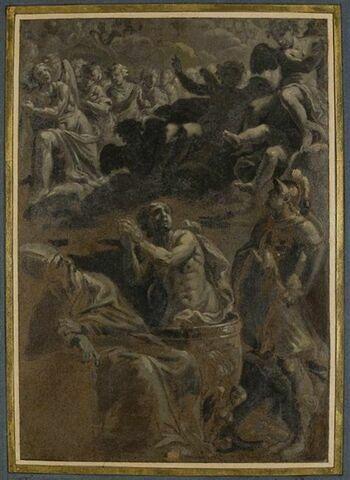 Saint Guy martyrisé entre saint Wolfgang de Ratisbonne et saint Georges