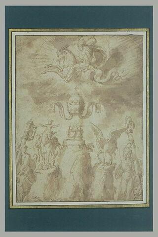 Composition allégorique en l'honneur d'un pape