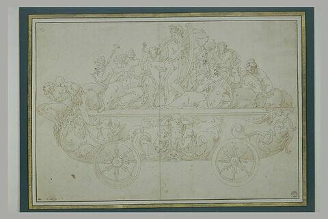 Apollon et les Muses dans un char