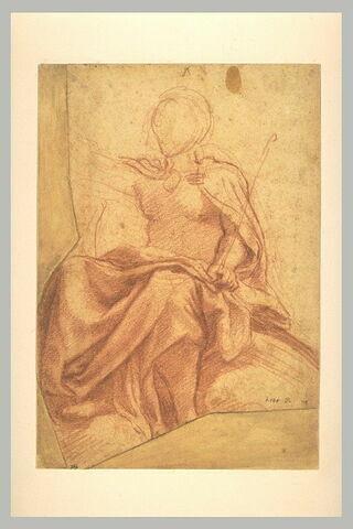 Etude de la draperie du Christ dans le Couronnement de la Vierge