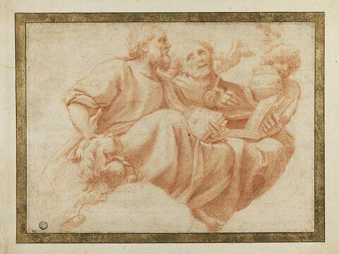 Saint Marc et saint Grégoire, assis, tenant, l'un et l'autre un livre