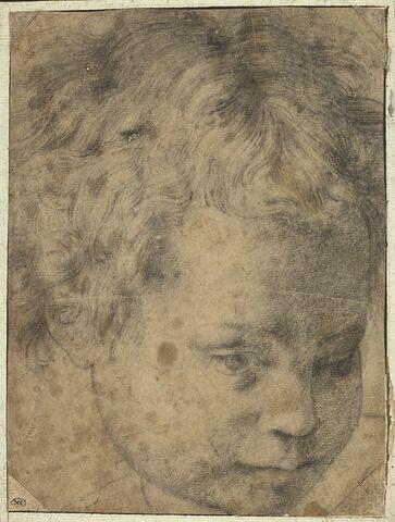 Tête d'enfant vue de face