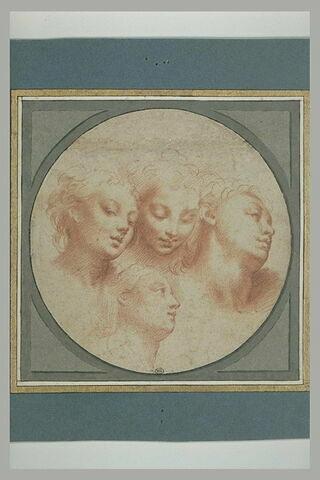 Quatre têtes de jeunes femmes