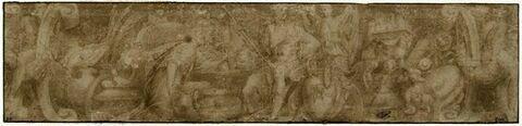 Frise : Chrysès offrant des vases et des présents à Agamemnon