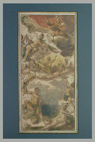 Les Eléments, et les Dieux, étude pour l'ornement d'un plafond