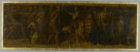 Famille de Darius devant Alexandre, et trophées