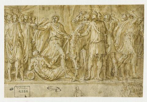 Scaevola traversant le Tibre pour se rendre auprès du roi Porsenna