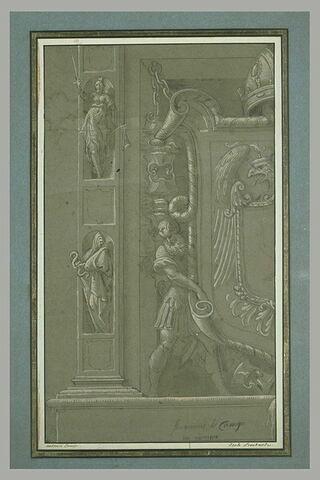 Projet pour la partie inférieure gauche de l'arc triomphale de Charles Quint, à Crémone