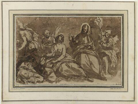 Apparition de saint Pierre à sainte Agathe dans sa prison