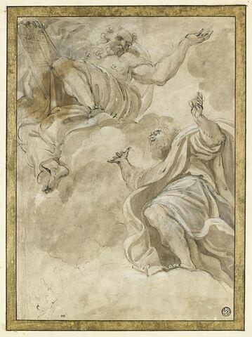 Deux figures colossales drapées