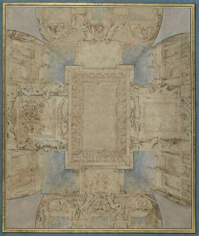 Ornement d'un plafond de la villa Borghese