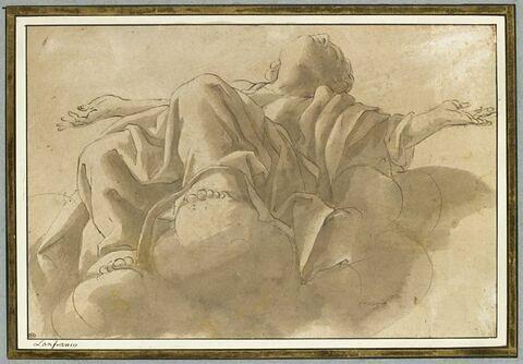 Un prophète assis sur des nuages