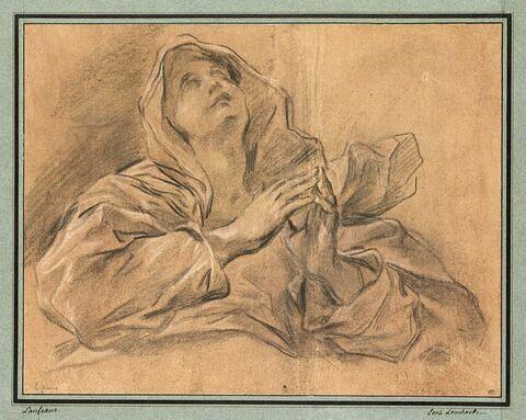 Vierge aux mains jointes