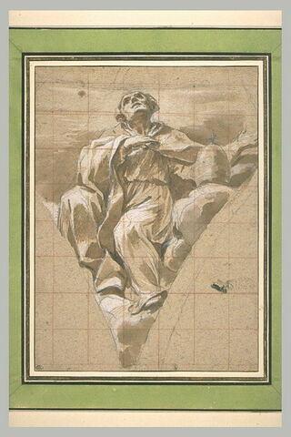 Le pape saint Grégoire sur des nuages