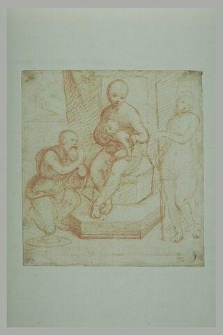 Vierge à l'Enfant en trône entre Saint Jérôme et Saint Jean-Baptiste