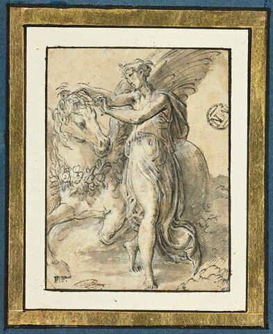 Philyra et Saturne sous la forme d'un cheval ailé