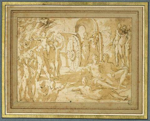 Scène mythologique : le Triomphe d'Amour ?