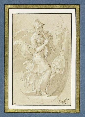 Athéna joue de la flûte de Pan