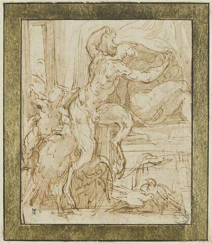 Jupiter sous la forme d'un satyre dévoilant Antiope