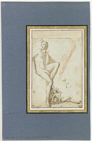 Etude d'après le Laocoon, études d'un crucifix et d'une Pietà