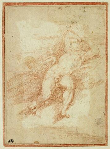 Homme nu couché sur le dos