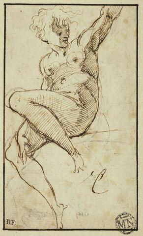 Femme nue, étude pour l'Eve de la Steccata