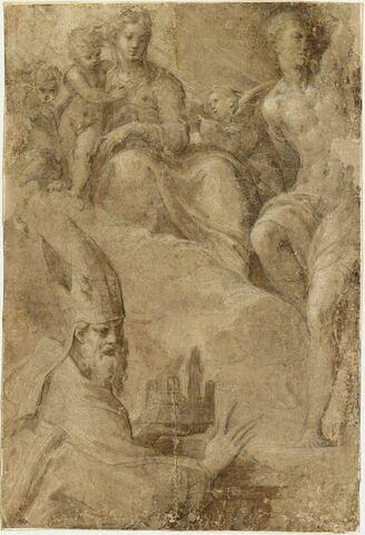 Apparition à saint Pétrone de la Vierge à l'Enfant avec saint Sébastien