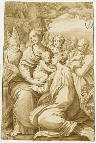 Vierge et l'Enfant avec saint Pétrone, un ange, saint Jérôme et sainte Marguerite