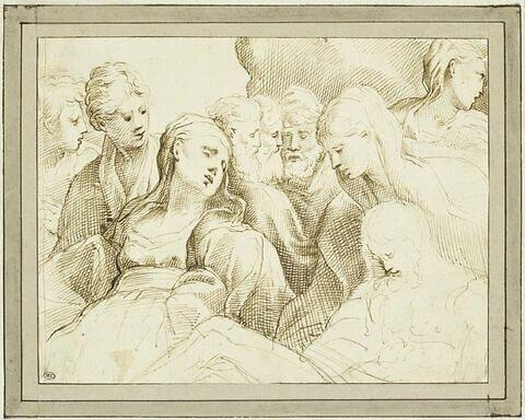 La Mise au tombeau avec la Vierge évanouie
