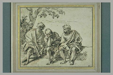 Trois figures assises