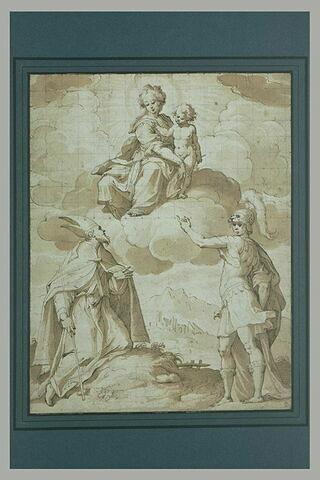 Apparition de la Vierge à l'Enfant à un évêque et à un guerrier