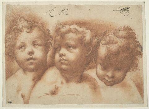 Trois têtes d'enfants
