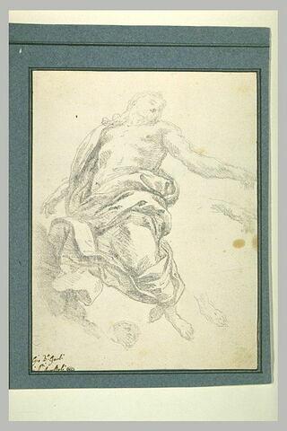 Etude d'une figure du Christ pour une Ascension