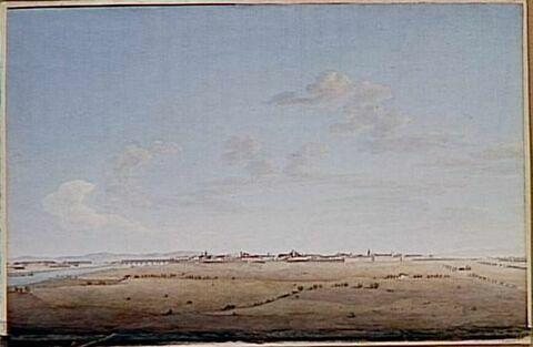 Vue de la ville et de la citadelle d'Alexandrie le 9 mai 1796