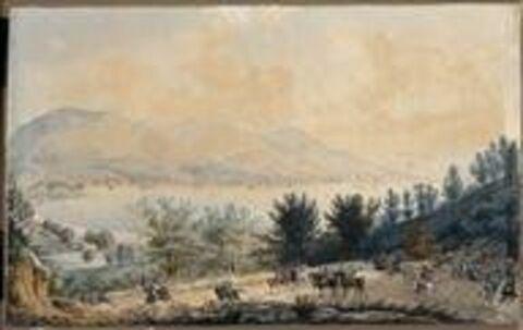 Vue de la ville de Salo et du lac de Guarda le 31 juillet 1796