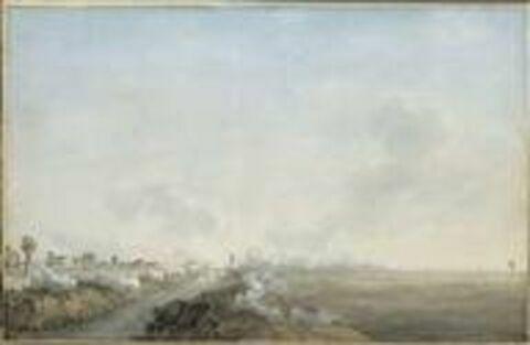Vue des villages et pont d'Arcole le 15 novembre 1796