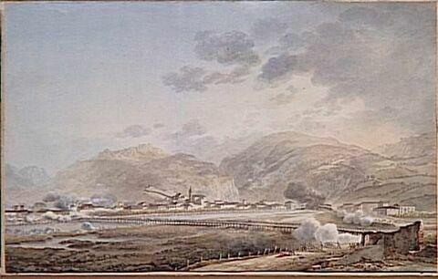 Vue du village de Lavis le 5 septembre 1796