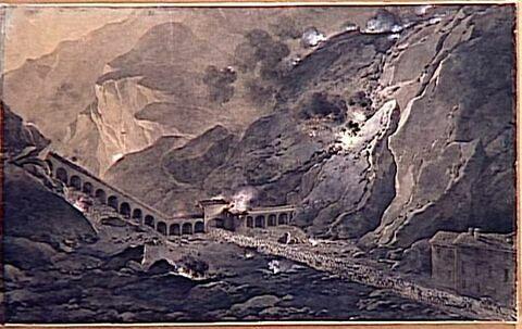 Vue du fort de Bard le 21 mai 1800