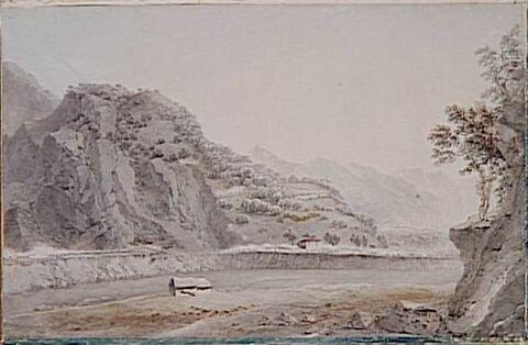 Vue des hauteurs de Varallo le 28 mai 1800