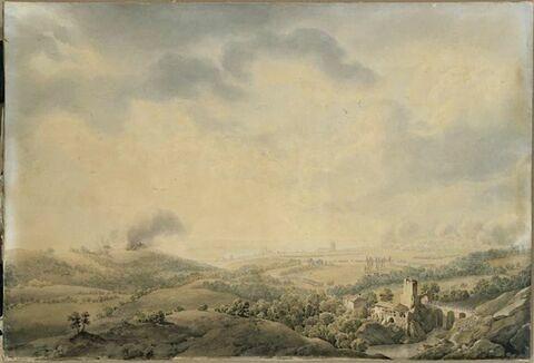 Vue d'Ulm, au moment de l'attaque de la ville par l'armée française