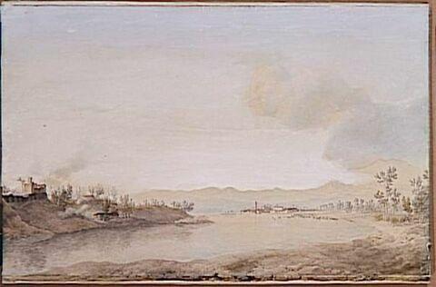 Vue de Castelletto et de Sesto-Calende le 1er juin 1800