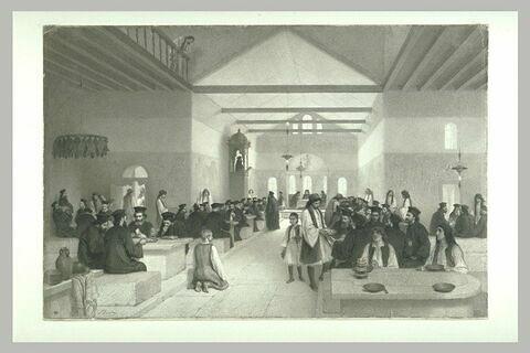 Réfectoire des moines grecs au mont Athos