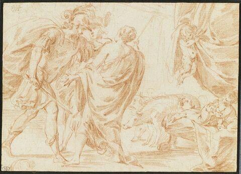 Ulysse obligeant Circé à rendre à ses compagnons leur première forme