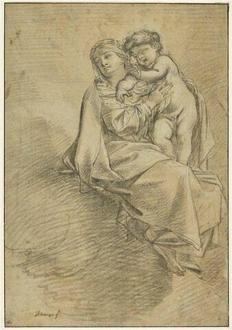 La Vierge et l'Enfant dans les nuées