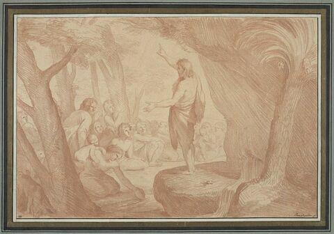 Saint Jean-Baptiste préchant dans le désert